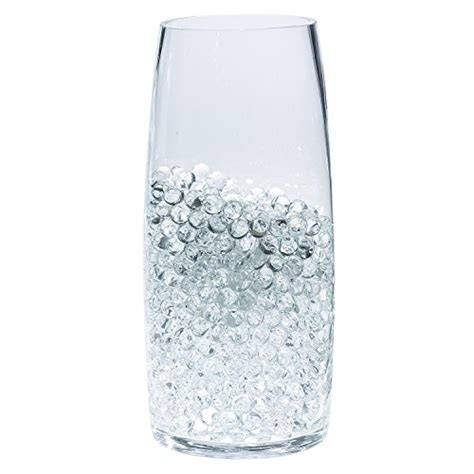 tower vase fillers water w clear ceramic pearls