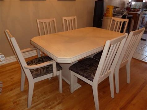 made in canada bleached oak complete dining room set