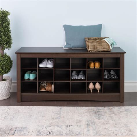 entryway shoe storage prepac entryway shoe storage cubbie bench espresso ess 4824