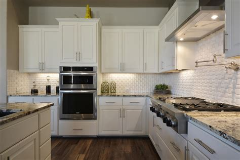 kitchen tile backsplash ideas with white cabinets white kitchen cabinets burrows cabinets central texas