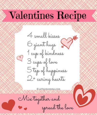 printable valentine recipes sweet recipe for valentine s day poem free printable