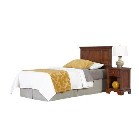 2 piece bedroom set twin headboard 2 piece bedroom set in cherry 5529 4015
