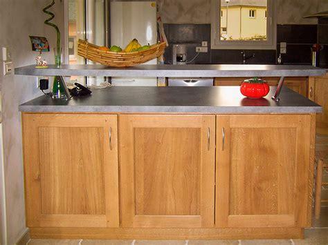 menuisier cuisine cuisine chene massif vernis naturel plan de travail en