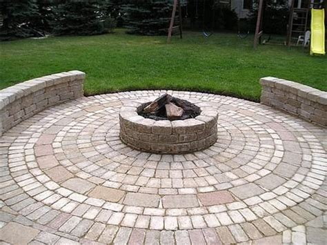 Image detail for  Pavers laid in a circular pattern to