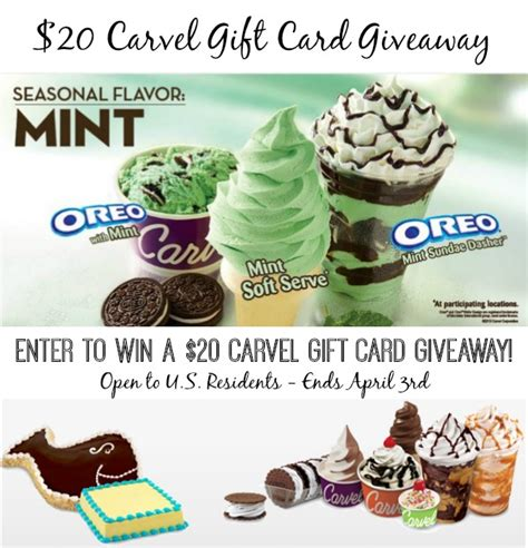 Carvel Gift Card - did someone say oreo mint ice cream win a 20 carvel gc giveaway