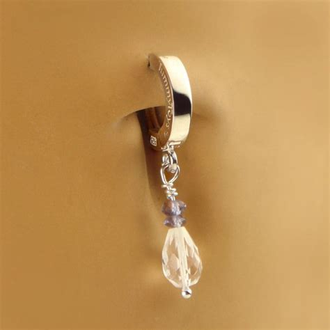 gems and pearls 925 silver belly button rings