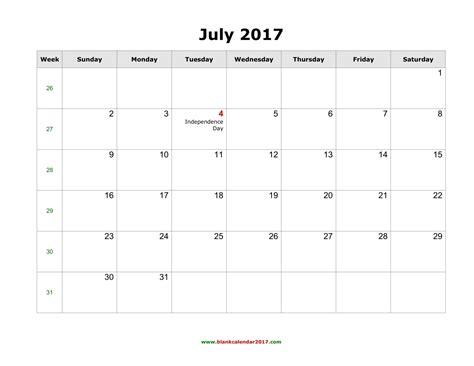 printable calendar 2017 july july 2017 calendar pdf weekly calendar template