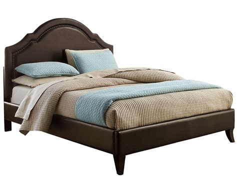 brown bed standard furniture simplicity cathedral upholstered