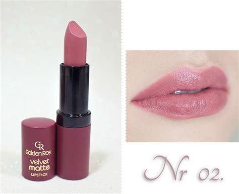 golden velvet matte lipstick 07 katosu przegląd pomadek velvet matte golden