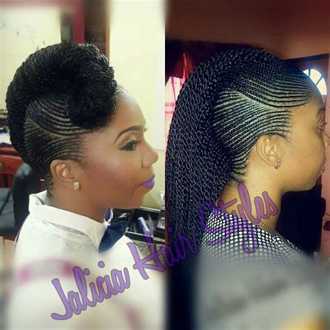 africa plating lines hairstyles teenie tiny cornrow braids wow wonder how long it took