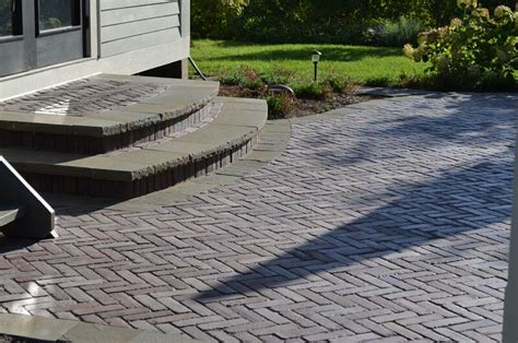 Curved Patio Pavers Why Choose Paved Concrete Landscape Steps Over Block Or