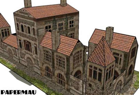 How To Make Paper Models Of Buildings - papermau ancient villa paper model by papermau