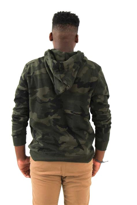 Camouflage Hooded Pullover 1897 camouflage fleece hooded pullover for d014 olive
