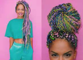 colorful box braids black hairstyles 2017 trends one has to now