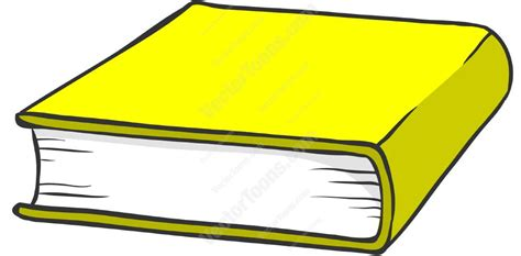 yellowing books yellow hardcover book clipart vector