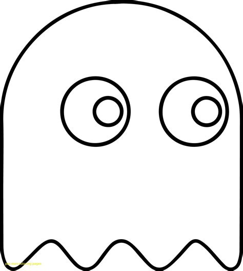 pacman ghost coloring pages pac man coloring page diannedonnelly com