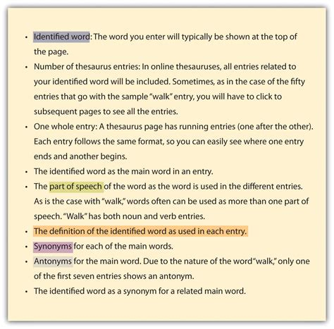 antonym for section using the dictionary and thesaurus effectively