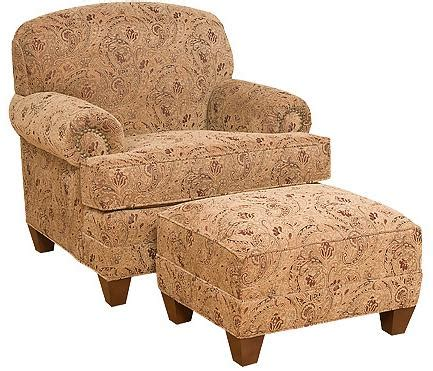 Backroom Callie by Callie Traditional Companion Chair With Ottoman Morris