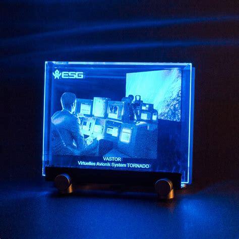 3d beleuchtung glasfoto mit beleuchtung dekoration bild idee