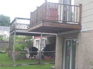 cantilevered deck can i cantilever a deck beam