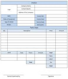 Mechanics Invoice Template Auto Repair Invoice Template Pdf Download Free Templates