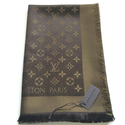 Gift It Louis Vuitton Scarf by Louis Vuitton Classical Monogram Scarf Scarves Silk Brown