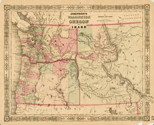 map of oregon and idaho johnson s washington oregon and idaho 1st edition