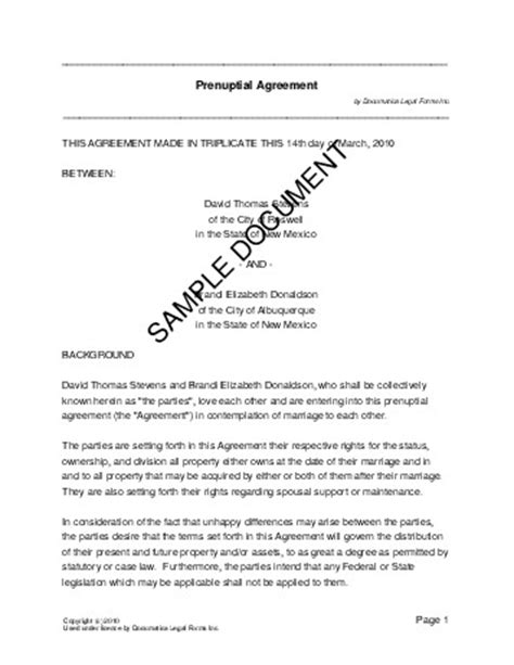 free prenuptial agreement template australia prenuptial agreement australia templates