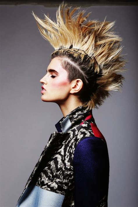 everyday punk hairstyles color punk and rock hairstyles for women wardrobelooks com