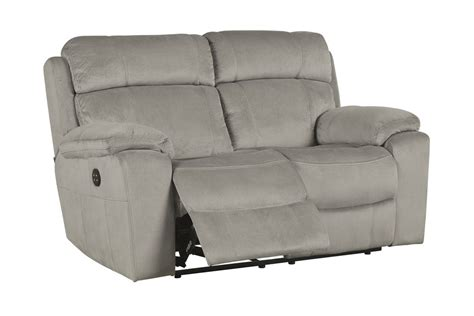 power reclining sofa with adjustable headrest tony granite power reclining loveseat with adjustable headrest