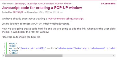 tutorial pop up javascript the best beginners and professional javascript tutorials