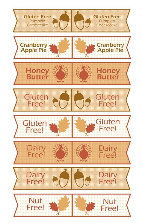 thanksgiving food label cards template free thanksgiving toothpick flag printable sweetbriar