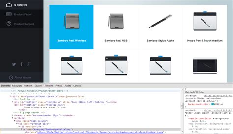 wacom uses css3 transitions css3