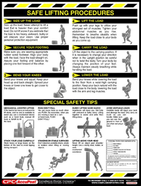 printable safe lifting poster image gallery safe lifting