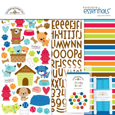 doodlebug scrapbooking doodlebug design puppy essentials kit
