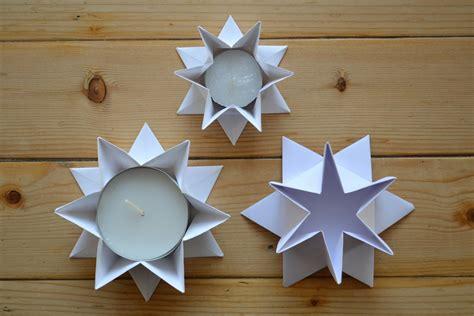 teelichthalter kerzenständer fadenspiel und fingerwerk kerzenhalter in sternform falten 1