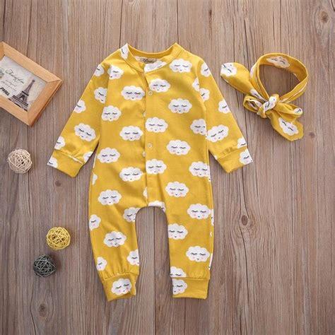 Infant Baby Boys Cotton Romper Jumpsuit Bodysuit Headband O ξnewborn baby clothes clothes jumpsuit rompers sleeve cotton