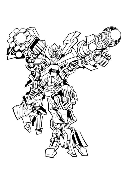 Ironhide Coloring Pages free coloring pages of ironhide transformers 2