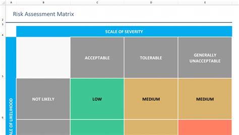 risk assessment template excel