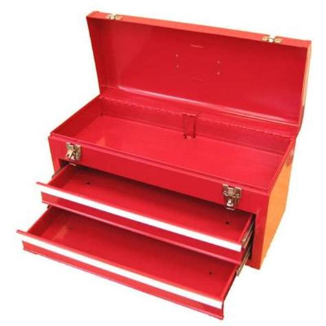 tool box excel 20 1 in w portable steel tool box in red tb132 red