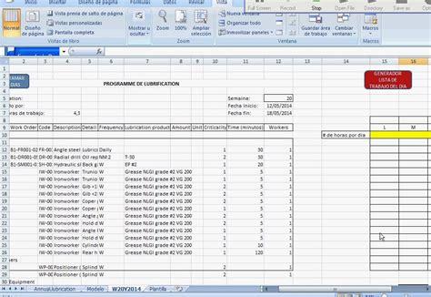 descargar formatos excel mantenimiento preventivo vistoso plantilla de plan de mantenimiento preventivo