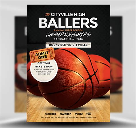 Basketball Flyer Template Flyerheroes Basketball Flyer Template