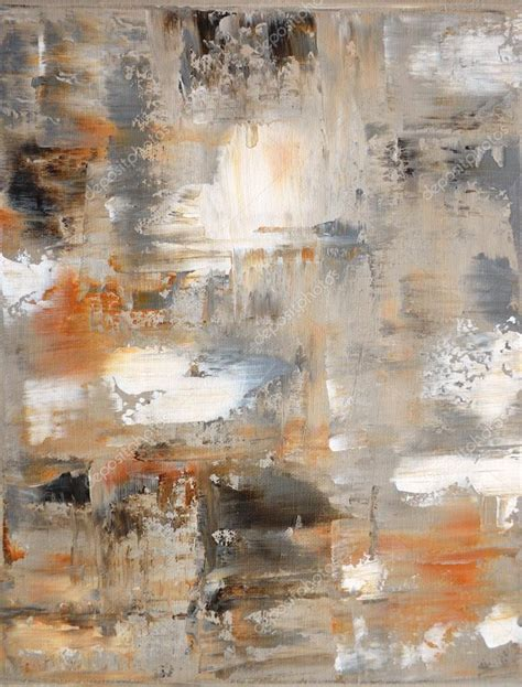 painting greys brown and grey abstract art painting stock photo