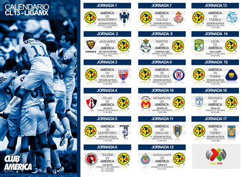 Calendario De Futbol Mexicano 2014 Liga Mx Clausura 2014 Club Am 233 Rica Sitio Oficial