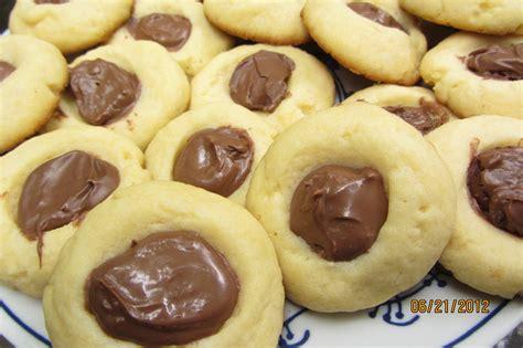 easy chocolate hazelnut thumbprint cookies recipe three