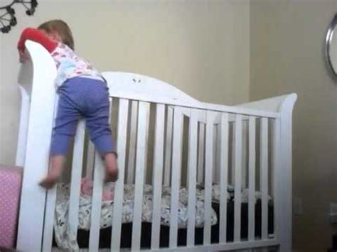 Babies Climbing Out Of Cribs 19 Month Old Baby Climbs Out Of Crib Youtube