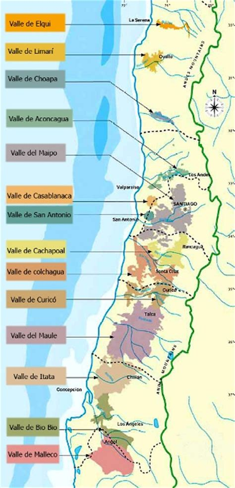 chile regions map geography of chile by region