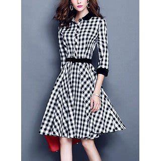Check A Line Dress buy westchic black white checks a line dress for