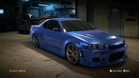 nissan r34 paul walker need for speed 2015 car customization 9 nissan