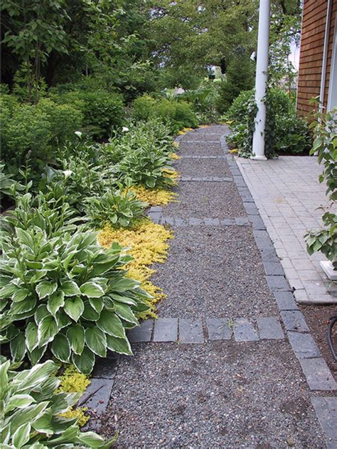 Landscape Edging For Gravel Path Gravel Path With Cobble Edging Paths